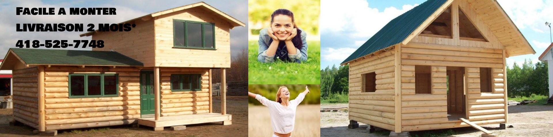 Mini maison bois rond